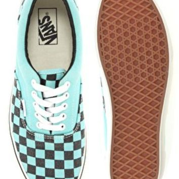 Vans Era Washed Checkerboard Plimsolls at asos.com