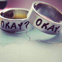 Okay? Okay. Cloud inside two hand stamped aluminum spiral ring