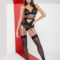 Sexy Lingerie Lace Teddy With A Strappy Design