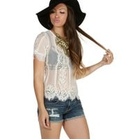 Ivory Sweet Dreams Lace Top