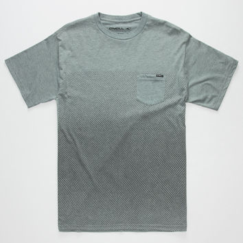 O'neill Offset Mens Pocket Tee Heather  In Sizes