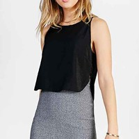 Silence + Noise Cropped Shell Tank Top-