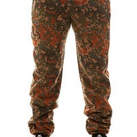The Quality Dissent Fleece Pants in Blotch Camo