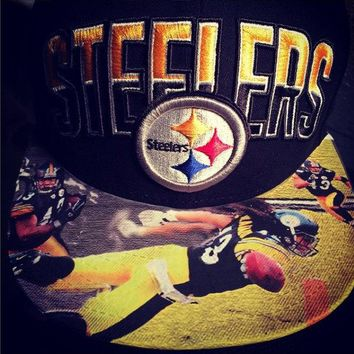Pittsburgh Steelers Authentic New Era Snapback or Fitted with Palomalu custom