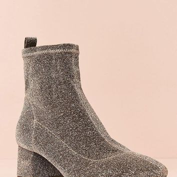 Metallic Sock Boot