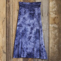 Small  Navy  Tie-Dye  Maxi  Skirt  From  Natural  Life