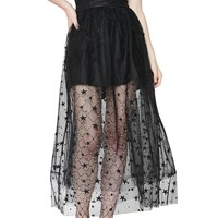 Night's Still Young Star Tulle | SKIRT