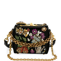 Alexander McQueen Beaded Leather Chain Box Bag