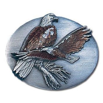Sports Accessories - Two Eagles Enameled Belt Buckle
