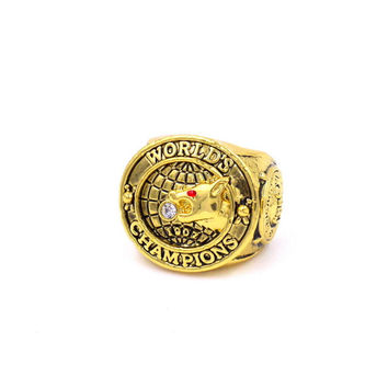 1907 Chicago Cubs World Series Champions Ring  Collection Golden Pleated Vintage Ring Christmas