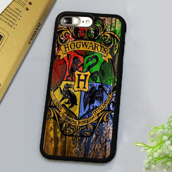 WOOD HOGWARTS HARRY POTTER Printed Luxury Mobile Phone Cases Accessories For iPhone 7 7 Plus 4.7 5.5 inch Soft Rubber Back Cover