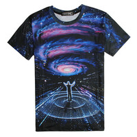 Space Psychedelic Conductor Shirt Hip Hop Urban Swag Sublimation All Over Print Shirt Tee Shirt Graphic Tee Gift Idea Free Shipping USA