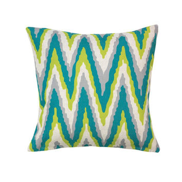 Chevron Print Accent Pillow, Decorative Throw Pillows For Sofa, Polyester