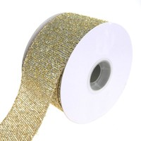 Metallic Marvel Wired Christmas Holiday Ribbon, Silver/Gold, 2-1/2-Inch, 10 Yards
