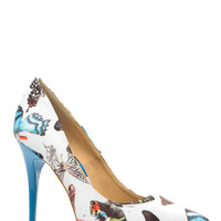 Butterfly Print Pointy Toe Classic Pumps