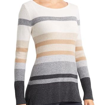 Athleta Womens Cashmere Lodge Striped Sweater