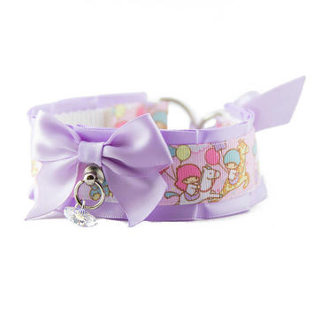 Kitten Play Collar, Pet Play Collar, DDlg Collar, Tug Proof Collar, BDSM Collar, Kawaii Little Stars Collar by Dolled Up Kitten