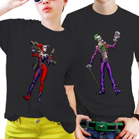 NSC-Joker and Harley Quinn Couples Matching Shirts, Couples T Shirts, Funny Couple Shirts