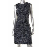 Rachel Roy Womens Tweed Piping Wear to Work Dress