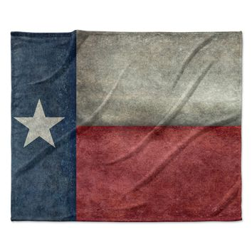 "Bruce Stanfield ""Texas State Flag"" Vintage Digital Fleece Throw Blanket"