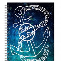 Journal Notebook - Spiral Book - Refuse To Sink - Art Journal - Writing Journals - Writing Diary - Notebook Quotes - Travel Gift Ideas