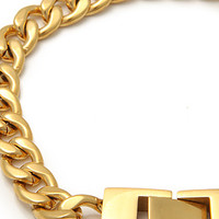 The Mr. Curb Chain Bracelet in Gold