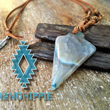 Native american arrow necklace, boho hippie jewelry