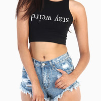 Stay Weird Crop Top. Cotton Spandex Sleeveless Crop Top Tank. Brandy Melville Crop Top. Womens Cop Top. Stay Weird Tank. Stay Weird Shirt