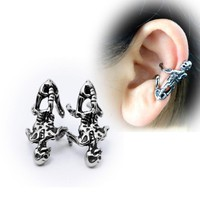 Retro Gothic Skull Clip Earring High Quality Stainless Steel