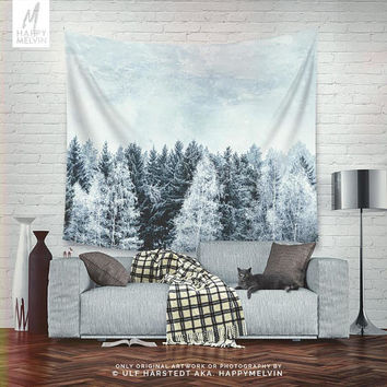 Winter Pines | Wall tapestry | Tapestry | Wall hangings | Winter Wall Tapestry | Winter Tapestry | Forest Wall Tapestry | Forest Tapestry