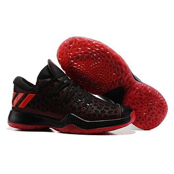 Adidas Men James Harden 2.0 Black Red Basketball Shoes