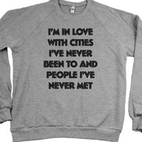 I'm In Love-Unisex Heather Grey Sweatshirt