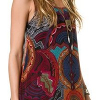 ANGIE PRINTED TIE BACK TUNIC | Swell.com