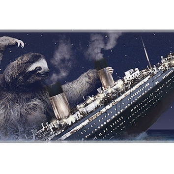 iphone 5 case, Sloth, Slothzilla, Titanic, hard case
