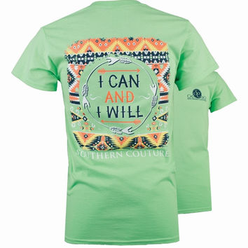 Southern Couture Preppy I Can & I Will Arrows T-Shirt
