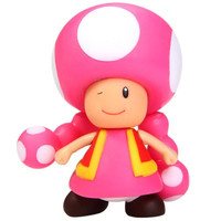 Toadette Super Mario PVC Mushroom Girl Figure Toy for Kids