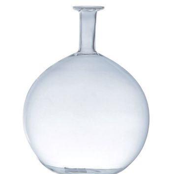 Clear Glass Round Bottle Bud Vase
