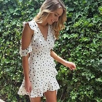 Sexy V-Neck Short Sleeve Dress