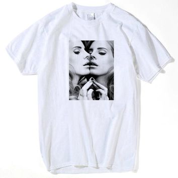 Men Women T shirt Lana Del Rey Letter Print Casual Funny Shirt For Lady  White Top Tee Hipster Big woman summer 2018 plus size