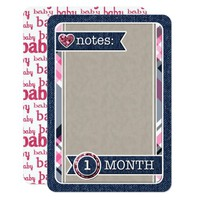 Baby Girl Monthly Notes JOURNAL CARD