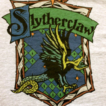 Harry Potter Slytherclaw Cross-House Crest Women's V-Neck T Shirt