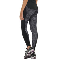 Flattering Black/Grey Women's Fitness Leggings