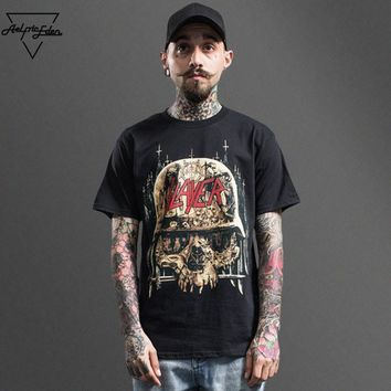 ca qiyif SLAYER Band Rock Short Sleeve Tee