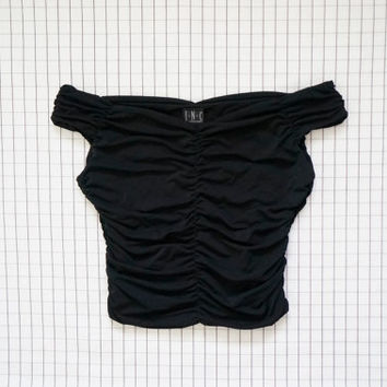 90's Off Shoulder Top, 90's Top, Goddess Top, Soft Grunge, Minimalist, Clueless, Aesthetic, Tumblr, S