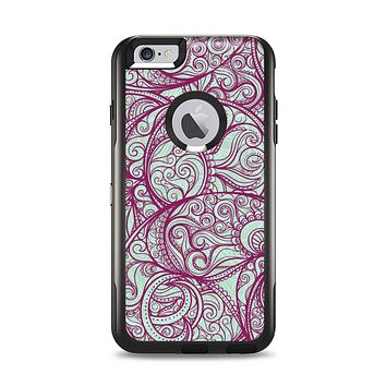 The Vector Purple Thin Laced Apple iPhone 6 Plus Otterbox Commuter Case Skin Set