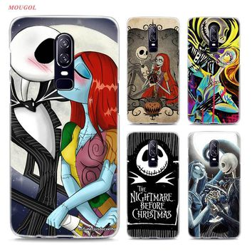Transparent Hard Case For Oneplus 6 Jack The Nightmare Before Christmas Printing Drawing Hard Phone Cases Cover For Oneplus 6