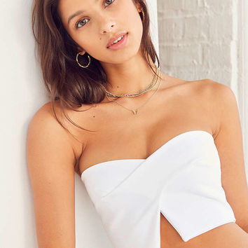 Silence + Noise Crossover Strapless Top - Urban Outfitters