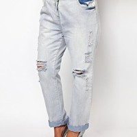 New Look Inspire Ripped Boyfriend Jean at asos.com