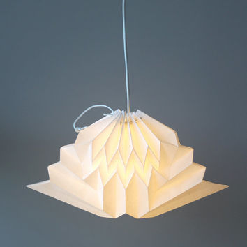 Cloud / Origami Paper Lamp Shade / White Geometric Cloud Pendant Lamp / Wall Lamp / Handmade Home Decor