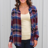 Plaid Everything Blouse {Burgundy Mix}